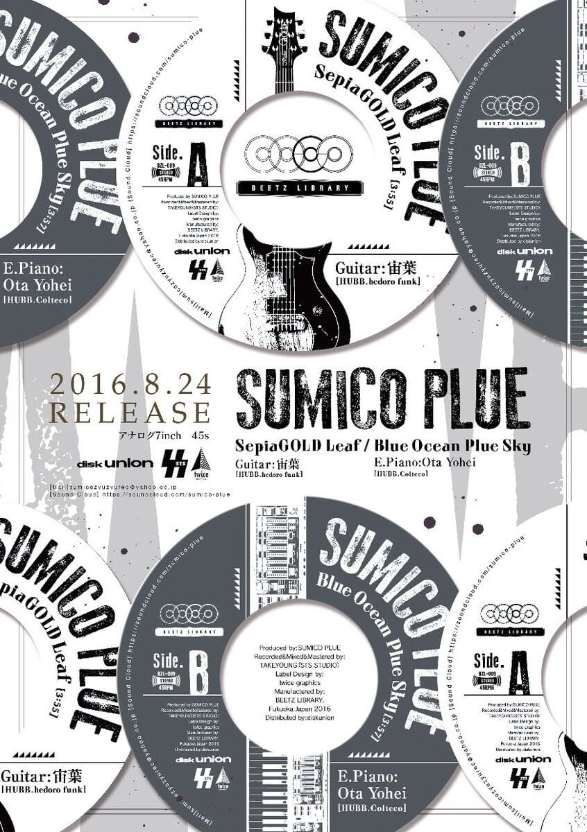 SUMICO PLUE – SepiaGOLD Leaf/Blue Ocean Plue Sky 7Inch