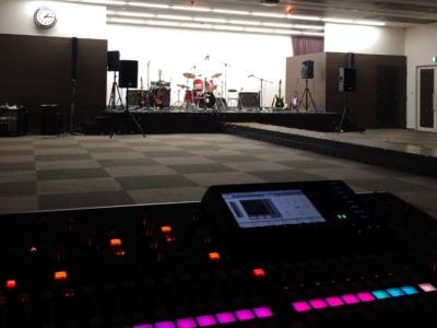 福岡市 専門学校 学園祭 200人規模の音響、楽器
