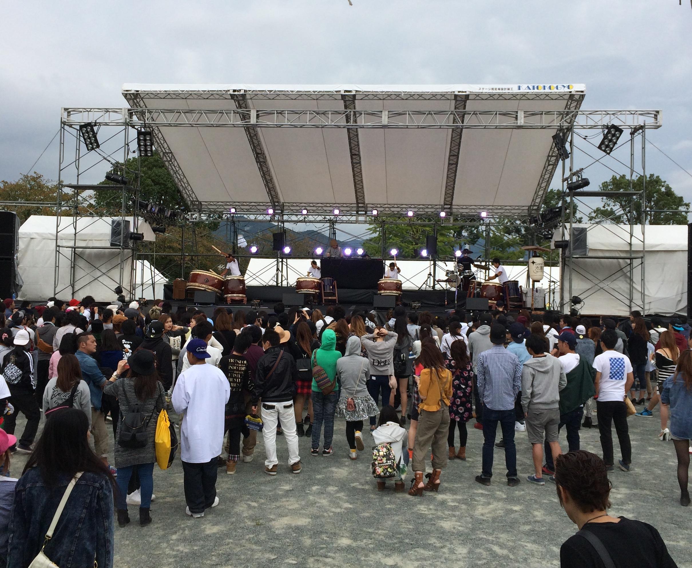 久留米市 野外イベント 2000人クラス音響